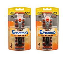 24 Cartridges & 3 Handles Bic Comfort3 Hybrid 3-Blade Men Ra