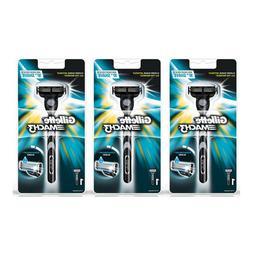 3 x Gillette MACH3 Razor Handle Shaver Pack of 3