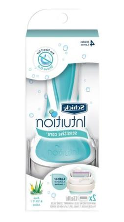 Schick Intuition Sensitive Care Razor for Women  with 2 Mois