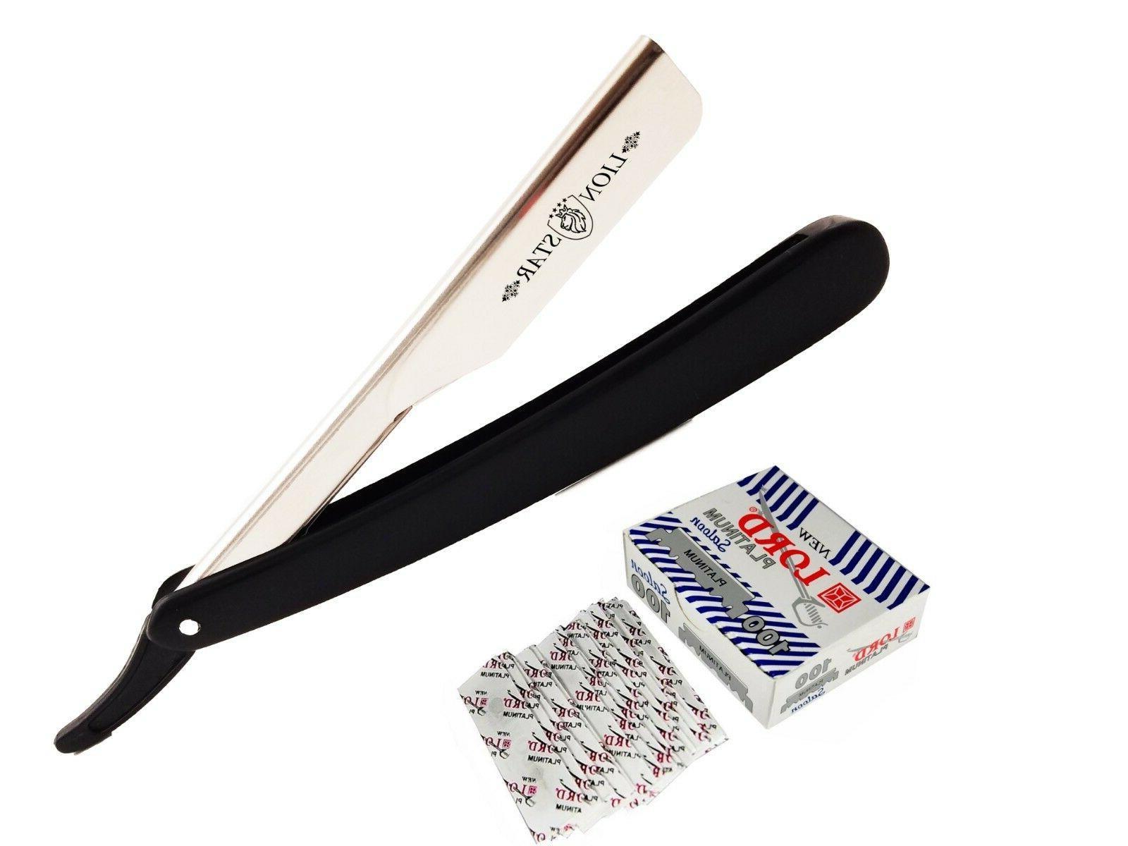 100 blades barber salon straight cut throat