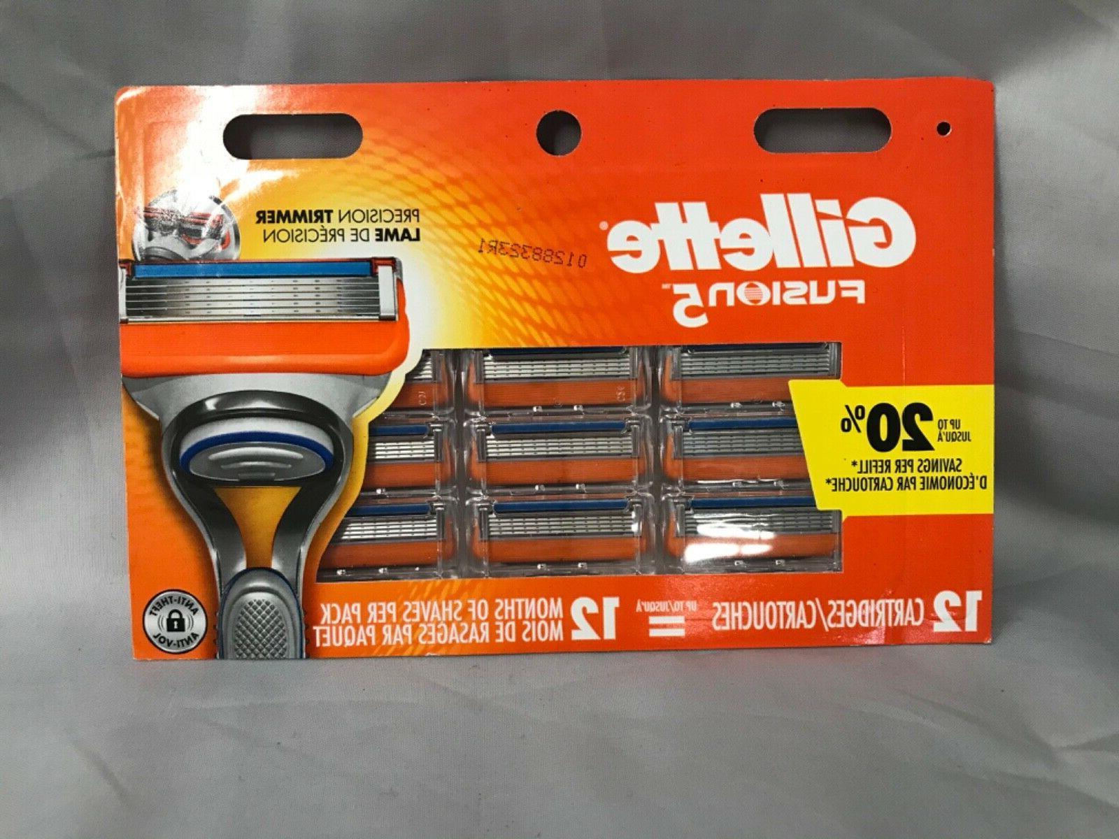 12 fusion 5 fusion5 cartridges razor blades