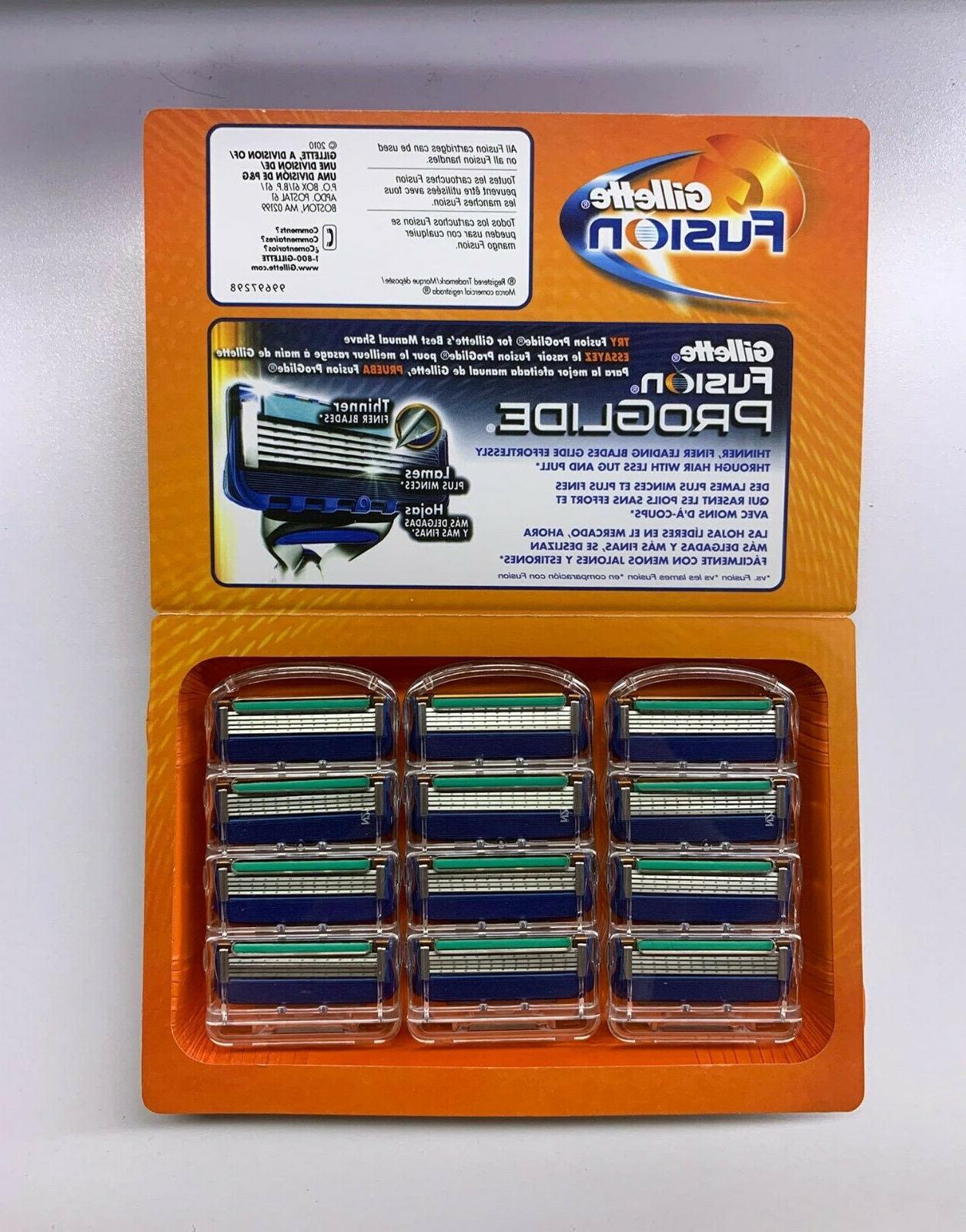 Gillette Fusion Manual Men's Razor Blade Refills, 12 Count