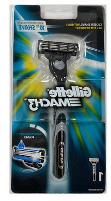 Gillette Mach3 Razor Blade Handle - Holds Mach3 and Turbo Bl