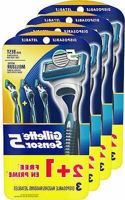 Gillette Sensor5 Men's Disposable Razors, Pack of 12 razors,