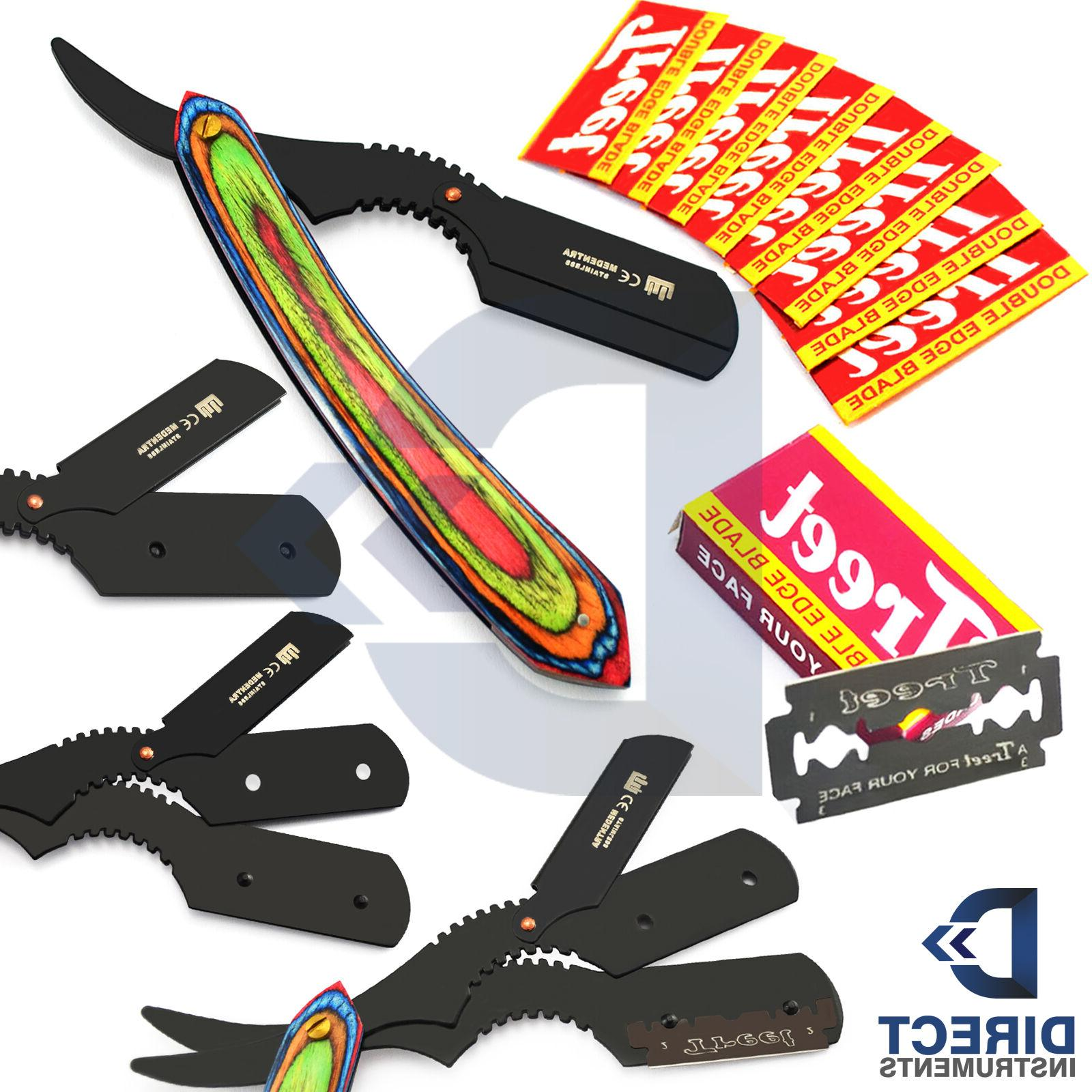 vinatge straight edge folding knife