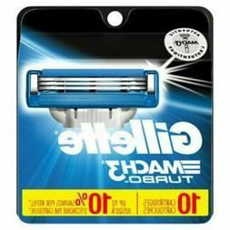 Gillette Mach3 Turbo Men's Razor Blade Refills - 10 CT each