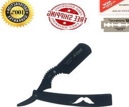 New Steel Handle Straight Edge Barber Razor Shaving Knife Go