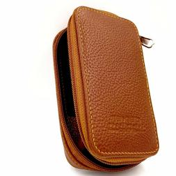 Parker Genuine Leather Zippered Safety Razor & Double Edge B