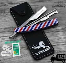 Professional Barber Pole Straight Folding Knife Barber Hair