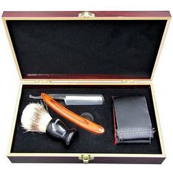 Shave Kit Men Straight Razor Shaving Brush & Leather Strop G