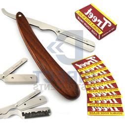 Traditional Wooden Handle Barber Hair Shaving Single Edge St