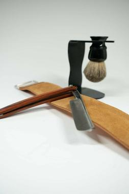 Vintage Style Straight Razor Kit, Strop, Brush And Stand!
